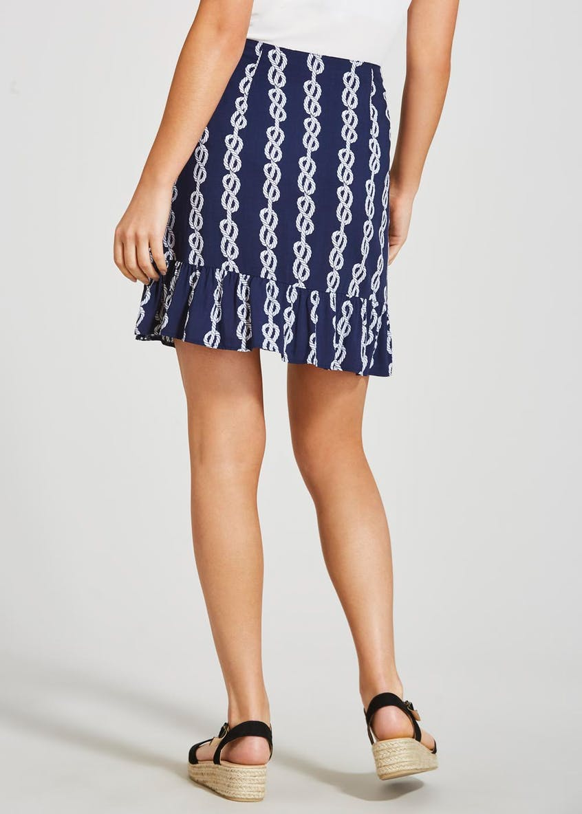 Rope Print Mini Skirt