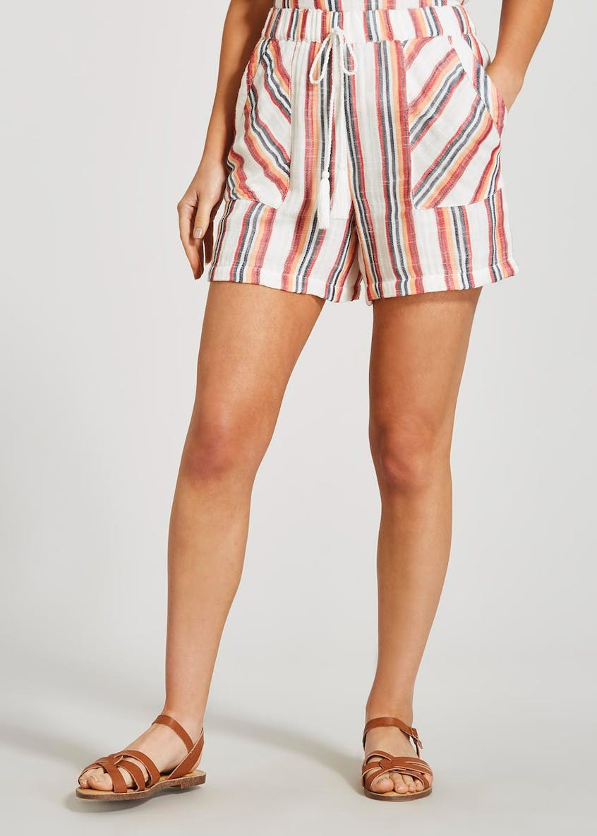Stripe Tassel Shorts