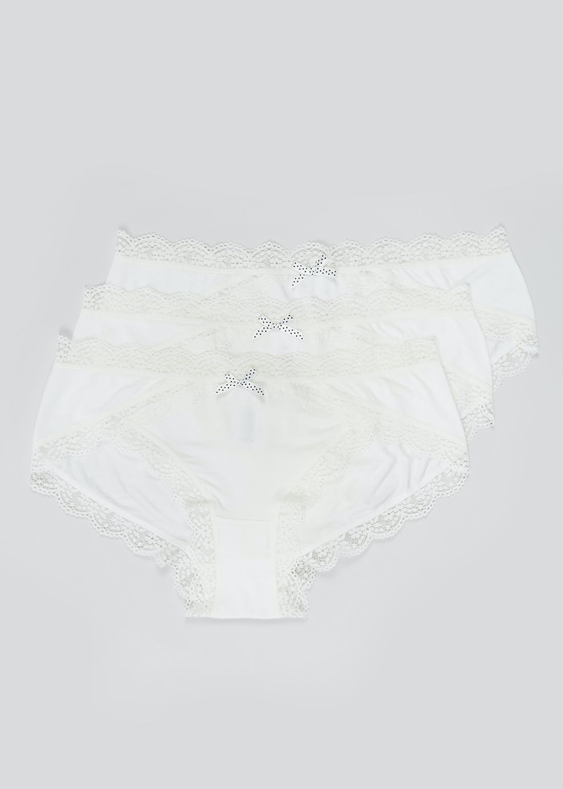 3 Pack Tulip Lace Trim Mini Knickers