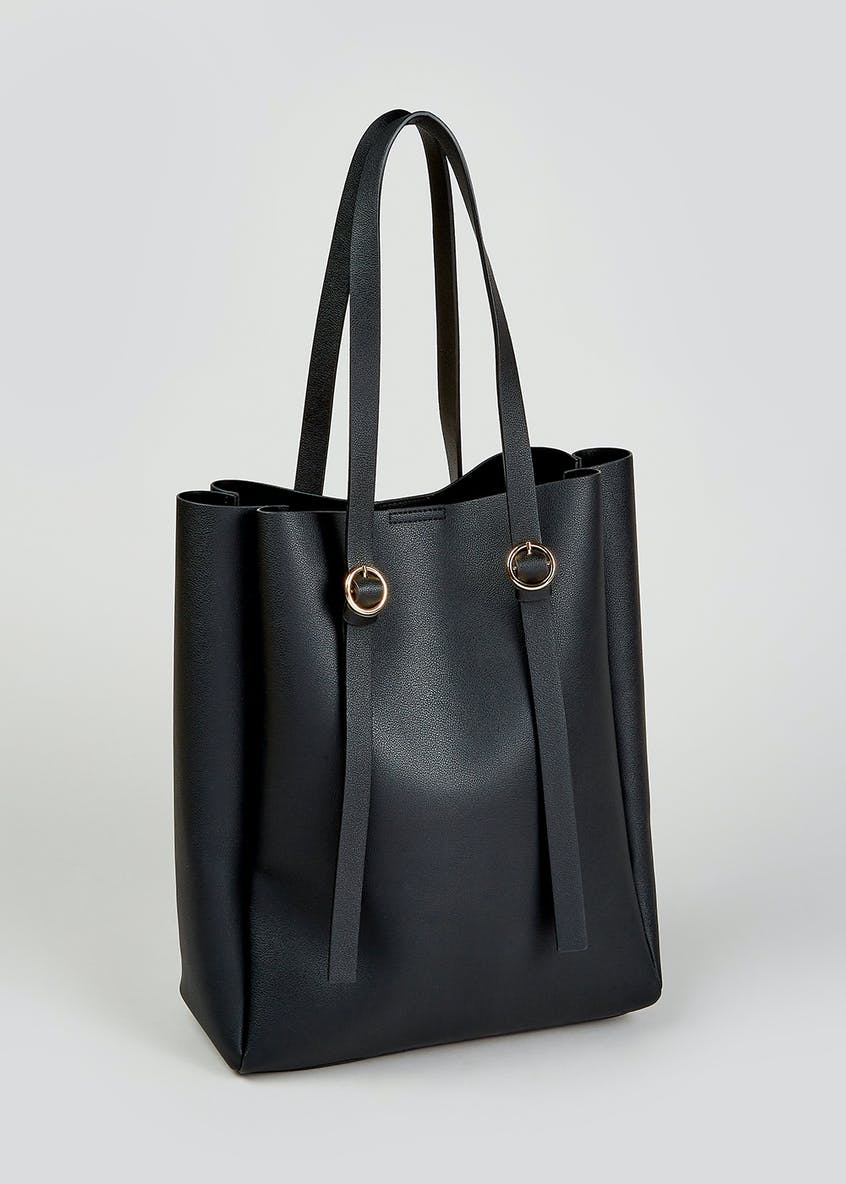 Circle Strap Square Tote Bag