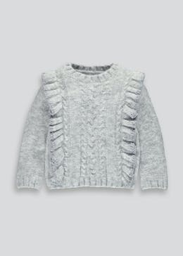 1510c9c119d Girls Fluffy Jumpers, Printed Jumpers & Cardigans – Matalan