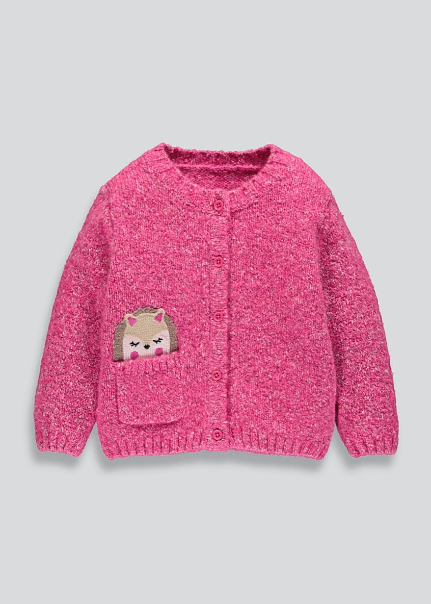 Girls Hedgehog Pocket Cardigan (9mths-6yrs)