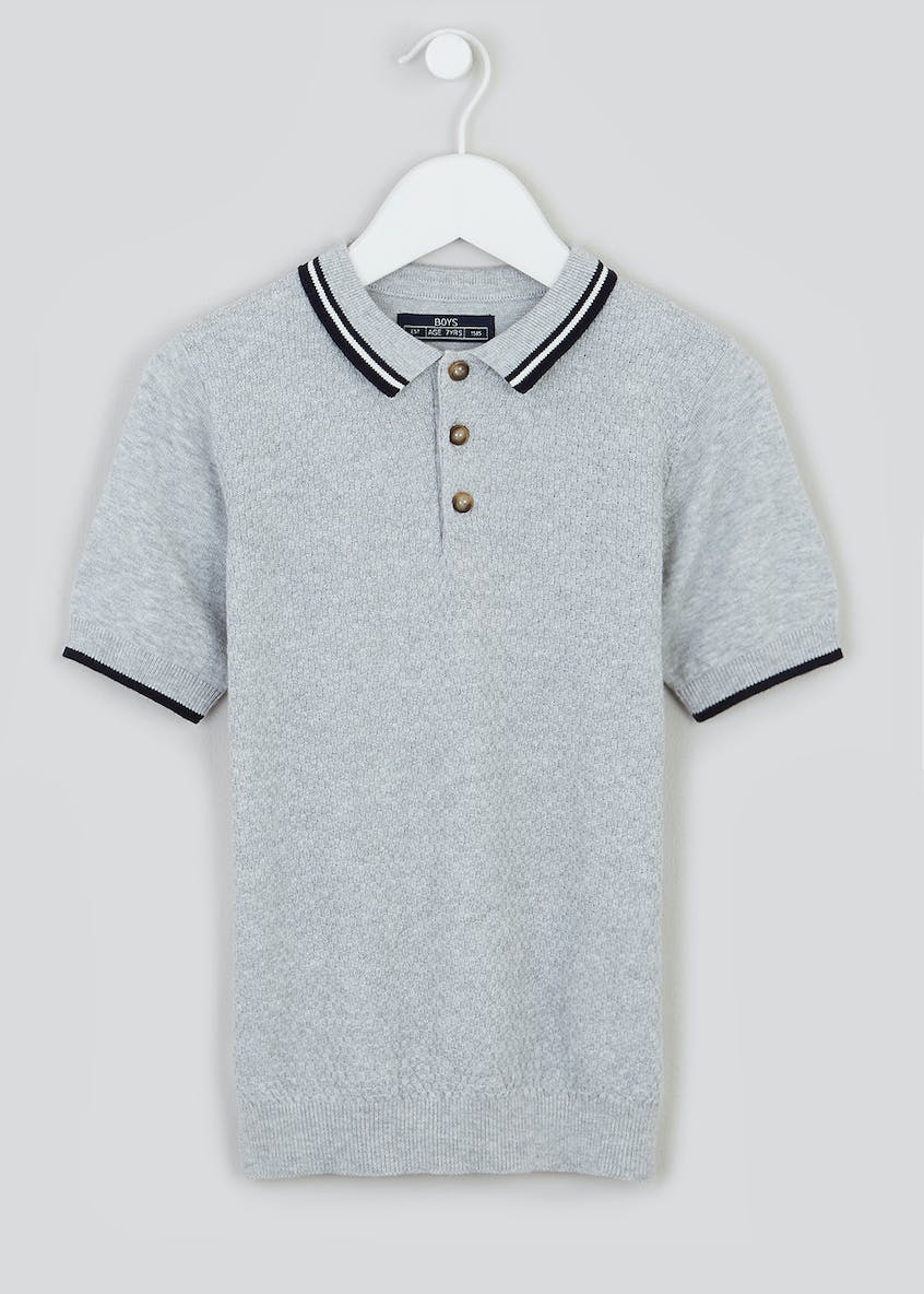 Boys Knitted Polo Shirt (4-13yrs)