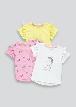 Girls 3 Pack Dinosaur T-Shirts