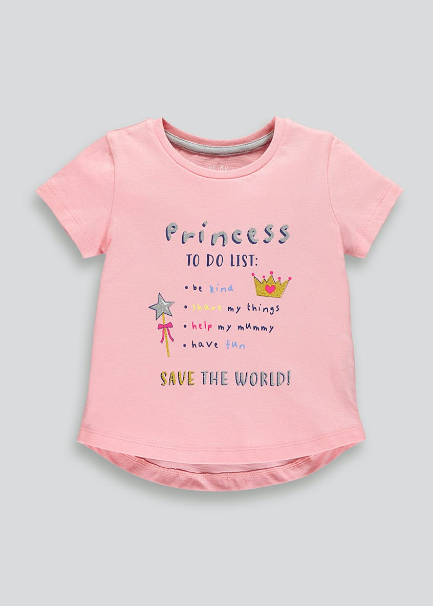 Girls Princess Slogan T-Shirt