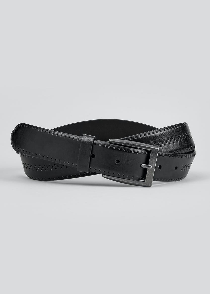 Black Brogue Buckle Belt