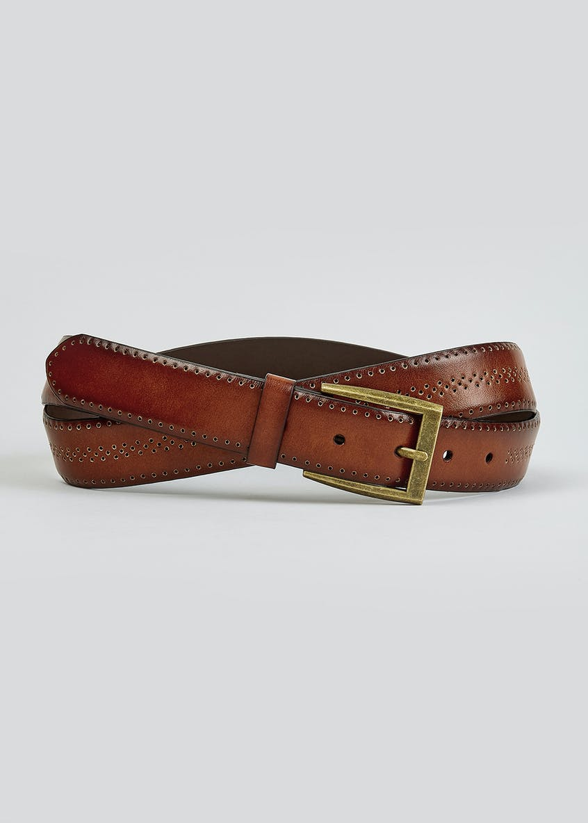 Brown Brogue Buckle Belt