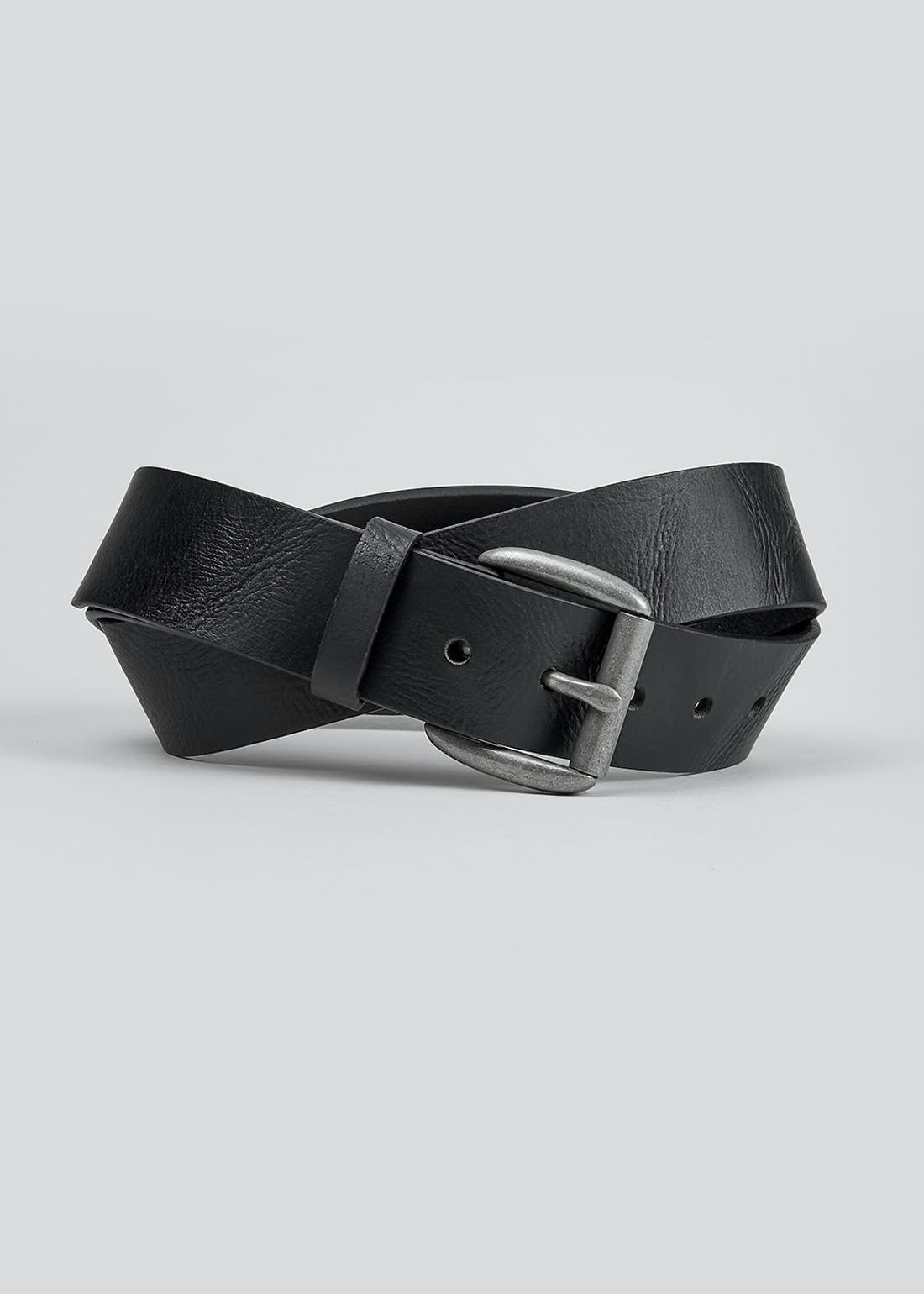 Black Real Leather Belt (40mm)