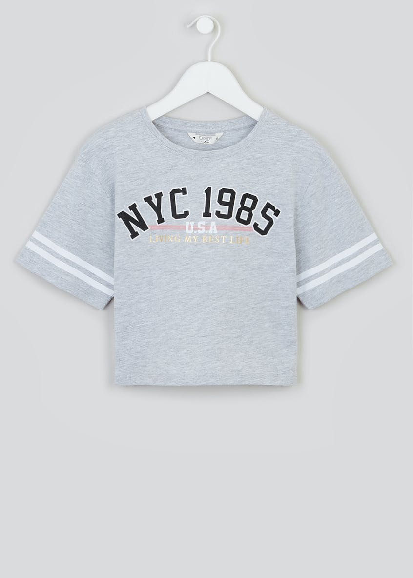 Girls Candy Couture NYC Cropped T-Shirt (9-16yrs)