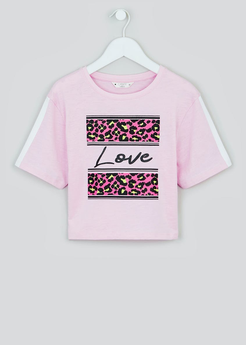 Girls Candy Couture Love Cropped T-Shirt (9-16yrs)