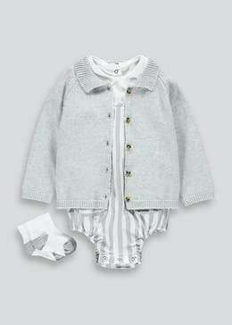 Unisex 3 Piece Nautical Set (Newborn-18mths)