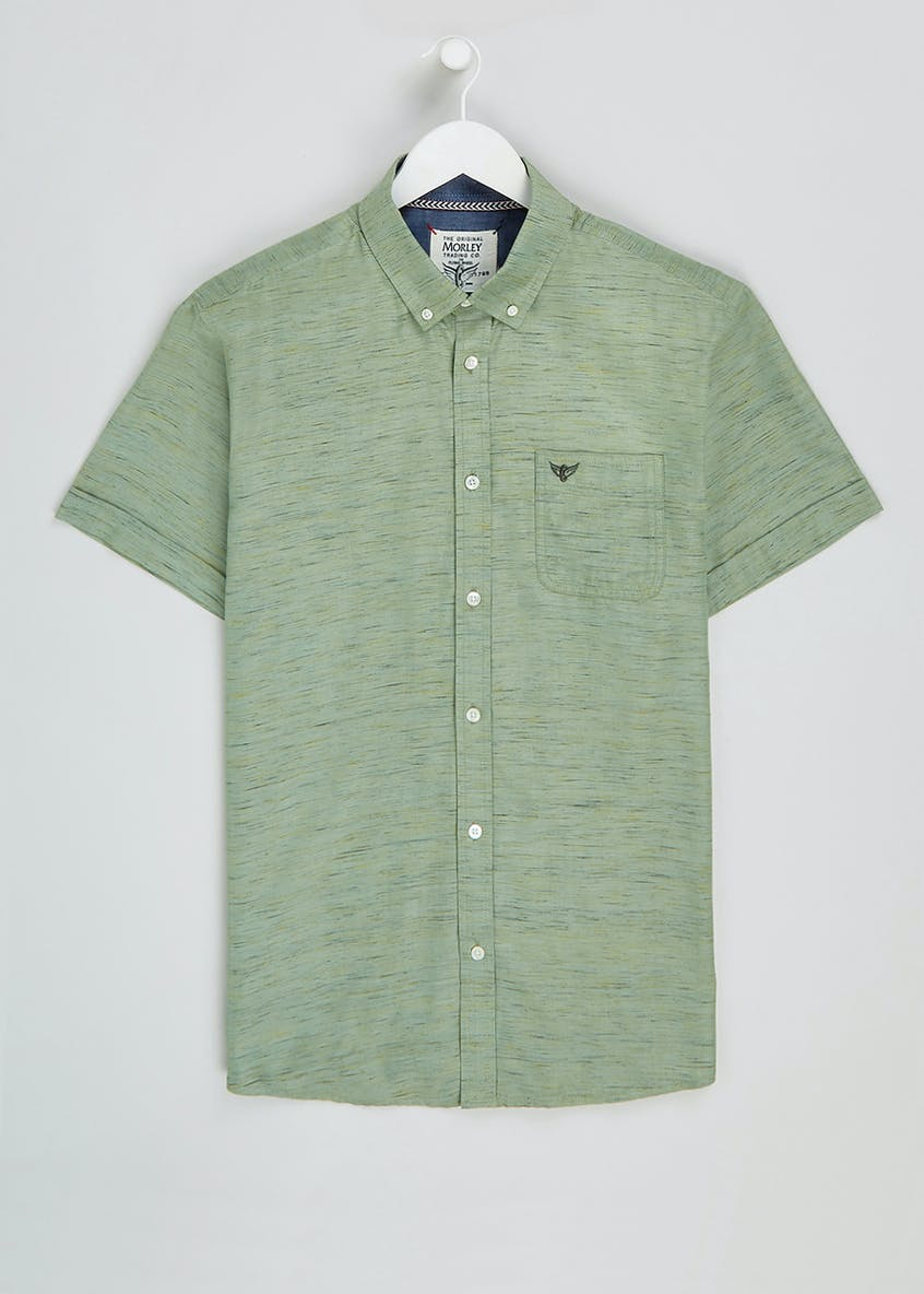 Morley Short Sleeve Textured Slub Shirt