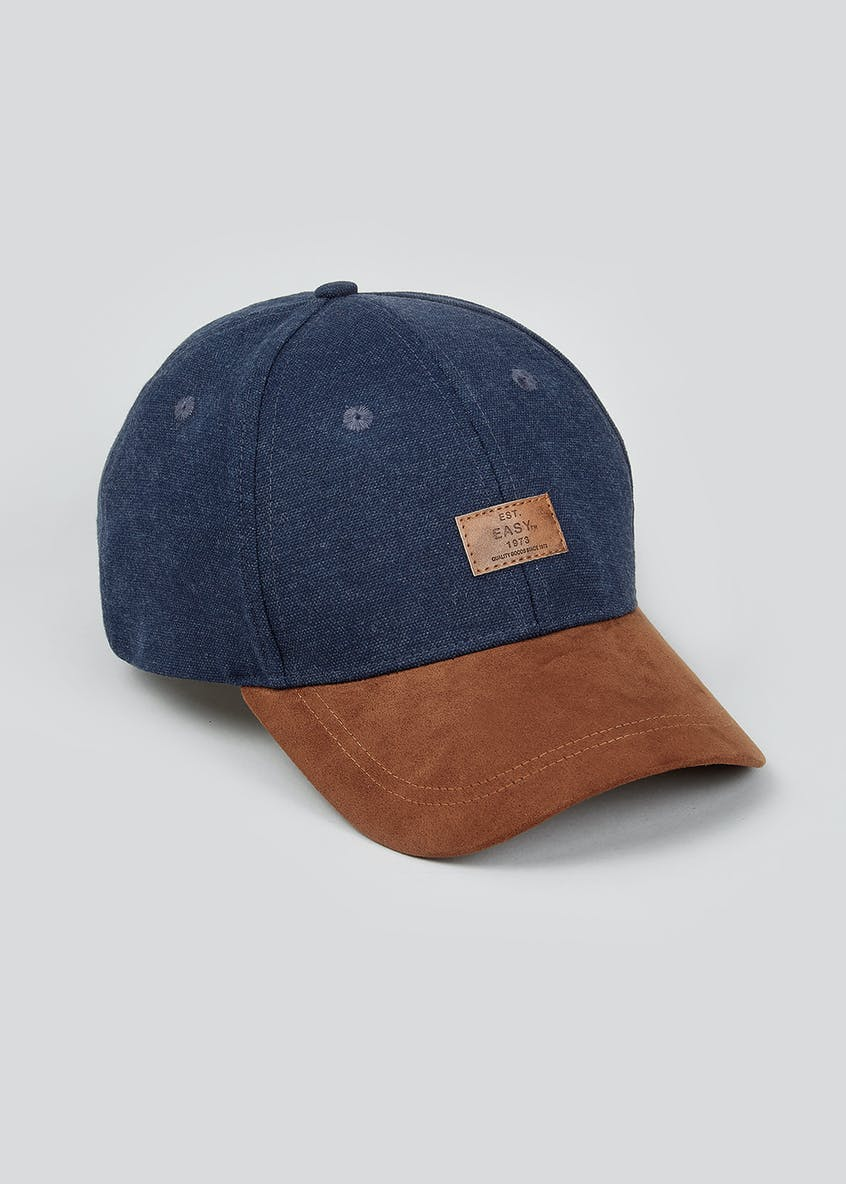 Denim Faux Suede Cap