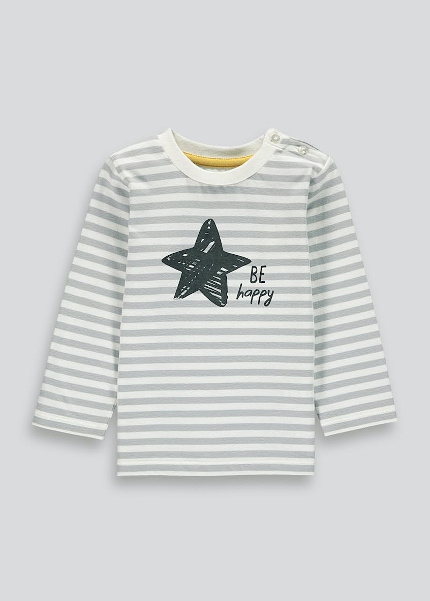 Unisex Be Happy Slogan T-Shirt (Tiny Baby-18mths)