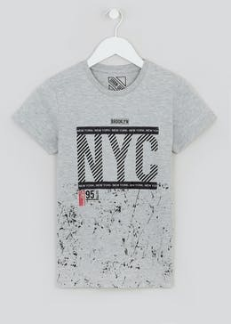 Boys NYC Printed T-Shirt (4-15yrs)