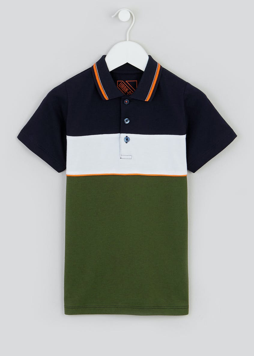Boys Colourblock Polo Shirt (4-13yrs)