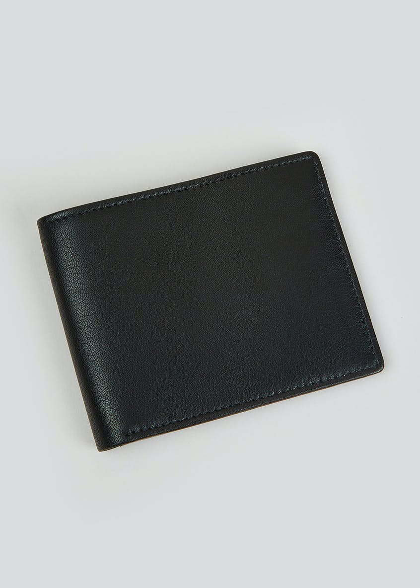Real Leather RFID Blocking Bi-Fold Wallet