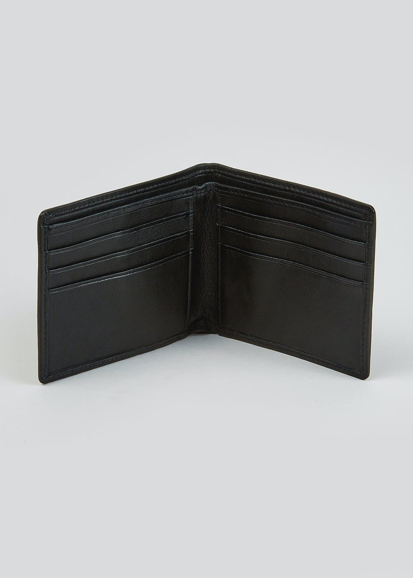 Italian Leather RFID Blocking Bi-Fold Wallet
