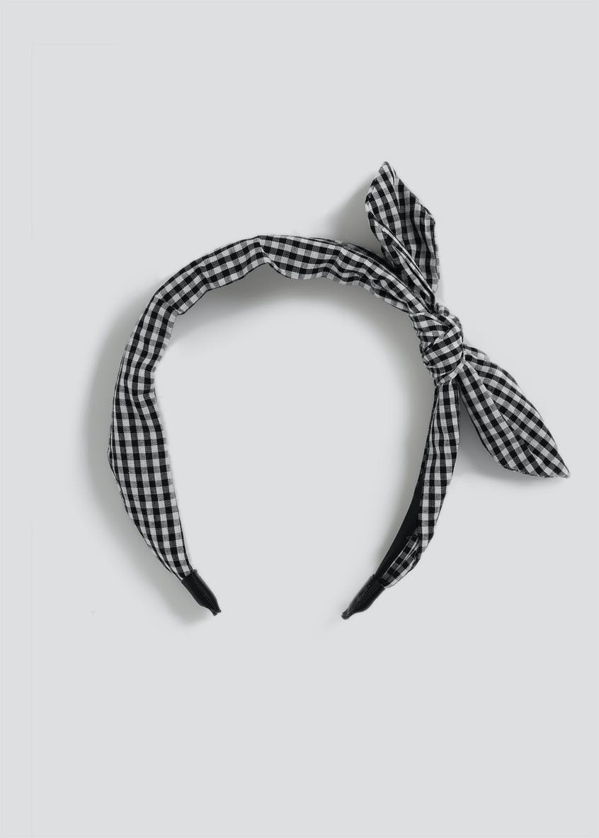 Gingham Bow Alice Band