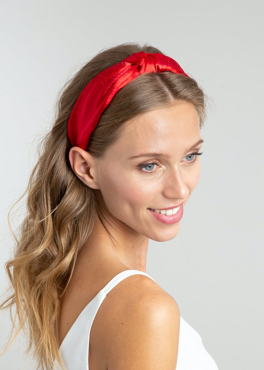 Satin Knot Headband.