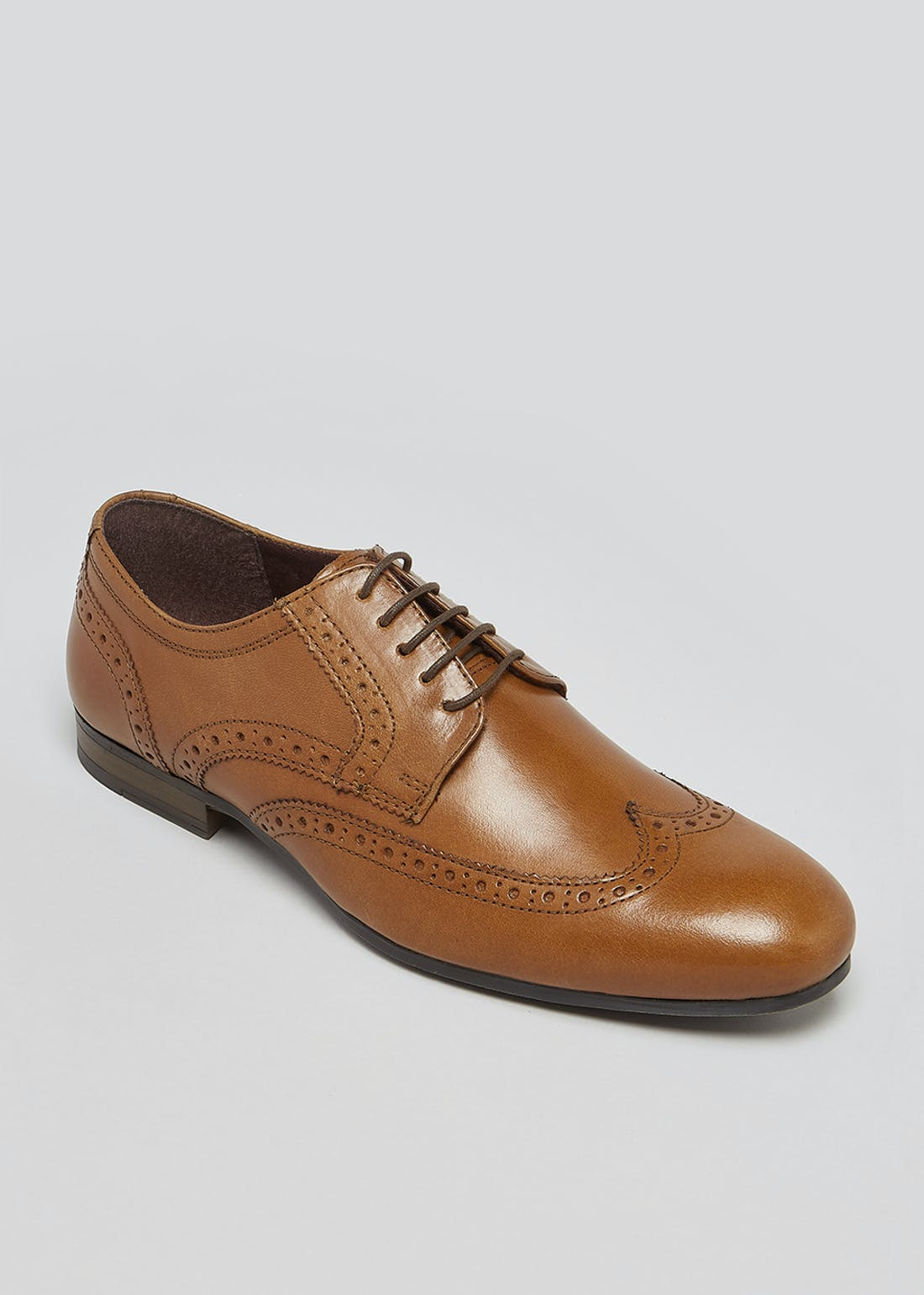 Tan Real Leather Gibson Brogues
