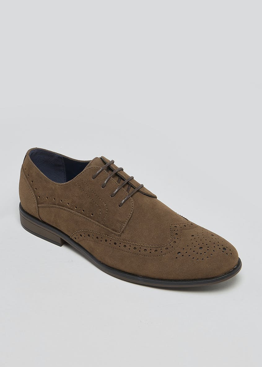 Suedette Brogues