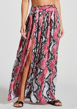 Julien Macdonald Snake Print Maxi Beach Skirt