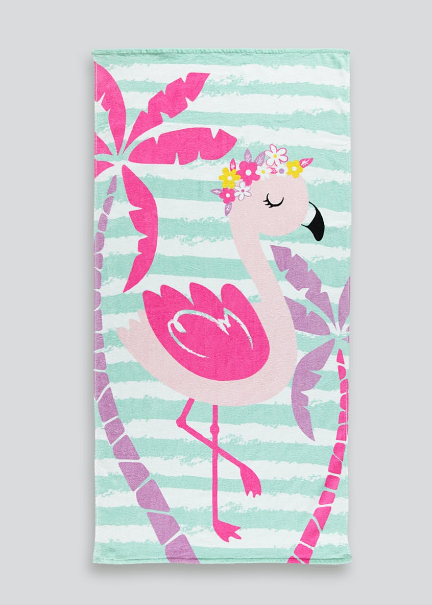 Flamingo Beach Towel (150cm x 75cm)