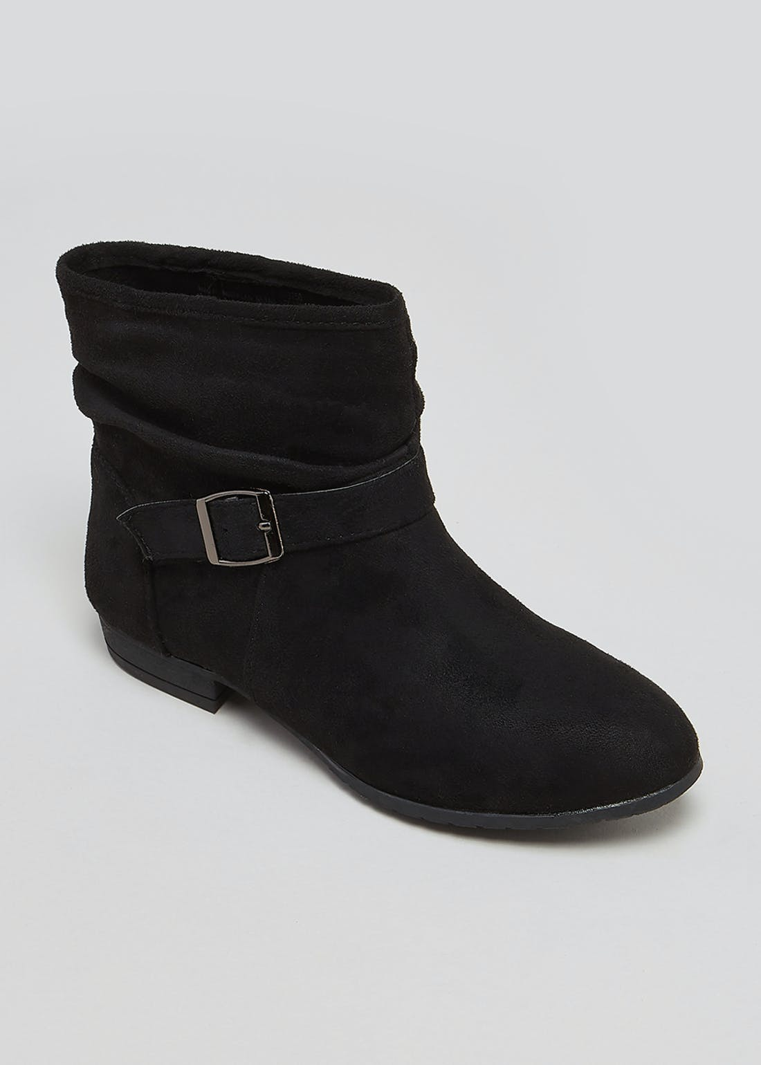 Black Slouch Ankle Boots