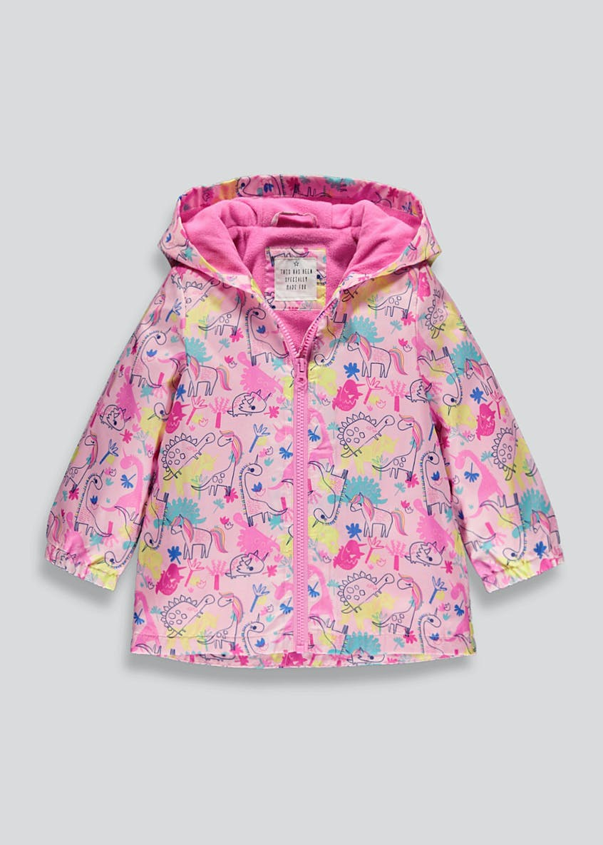 Girls Pink Dinosaur Mac (9mths-6yrs)