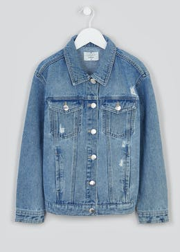 Girls Candy Couture Oversized Denim Jacket (9-16yrs)