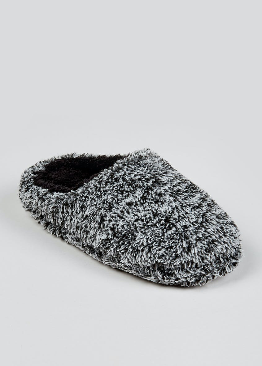 Boys Fluffy Mule Slippers (Younger 10-Older 6)