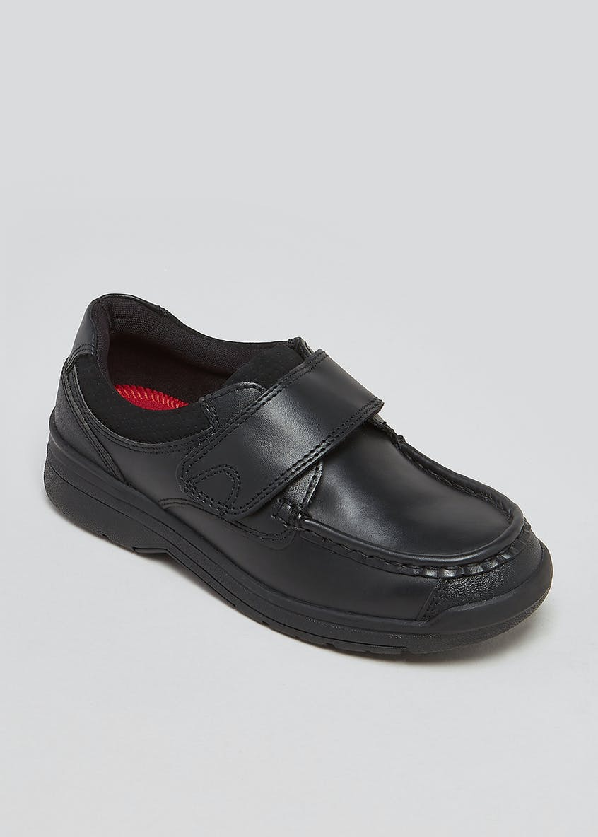 Boys Real Leather Single Strap Trainers (Younger 8-Older 6)