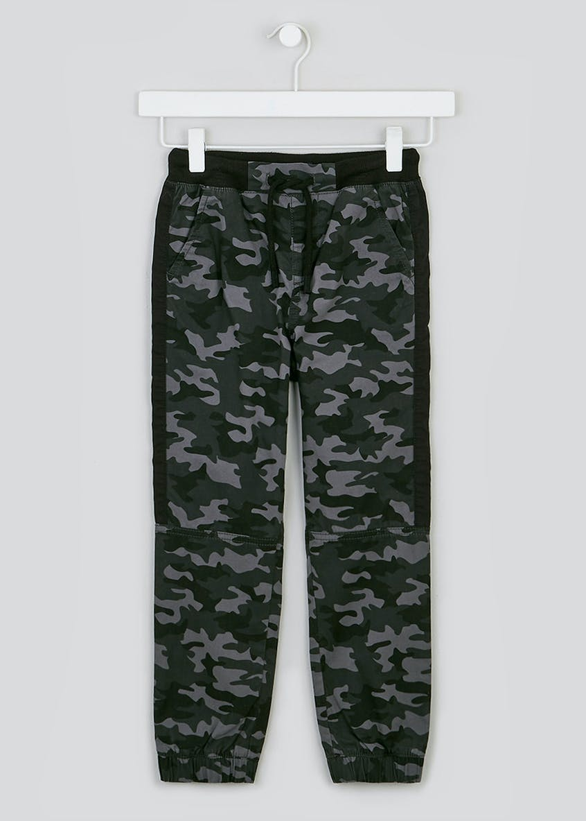 Boys Camo Cuffed Trousers (4-13yrs)