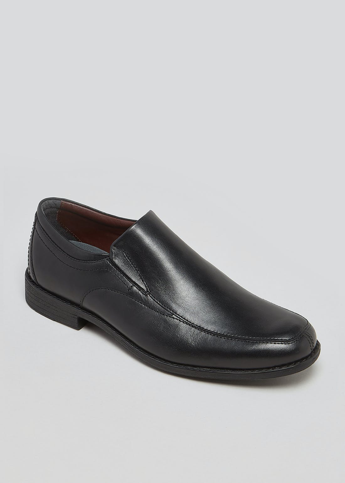 Soleflex Black Real Leather Apron Shoes