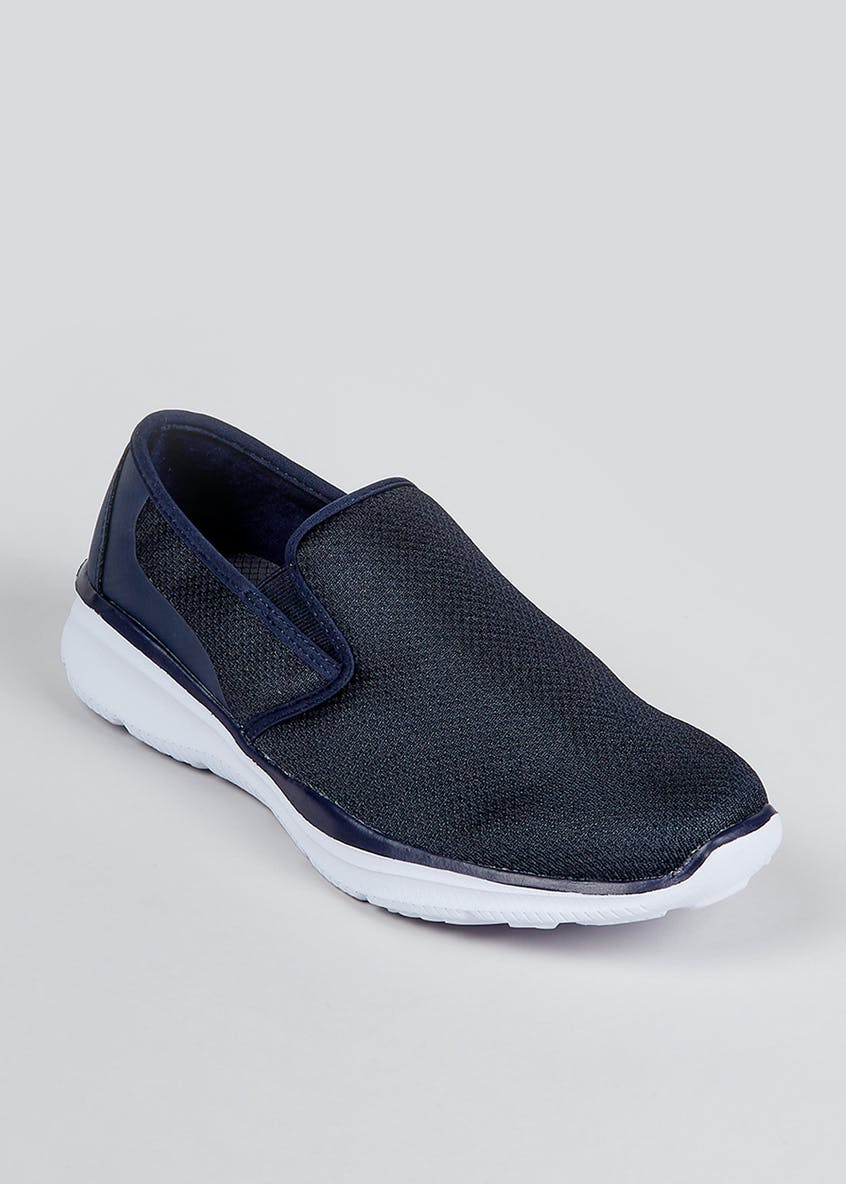 Soleflex Navy Slip On Sport Shoes