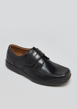 Soleflex Real Leather Riptape Strap Shoes