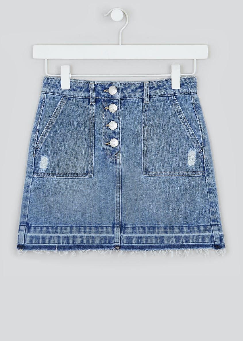 Girls Candy Couture Denim Skirt (9-16yrs)
