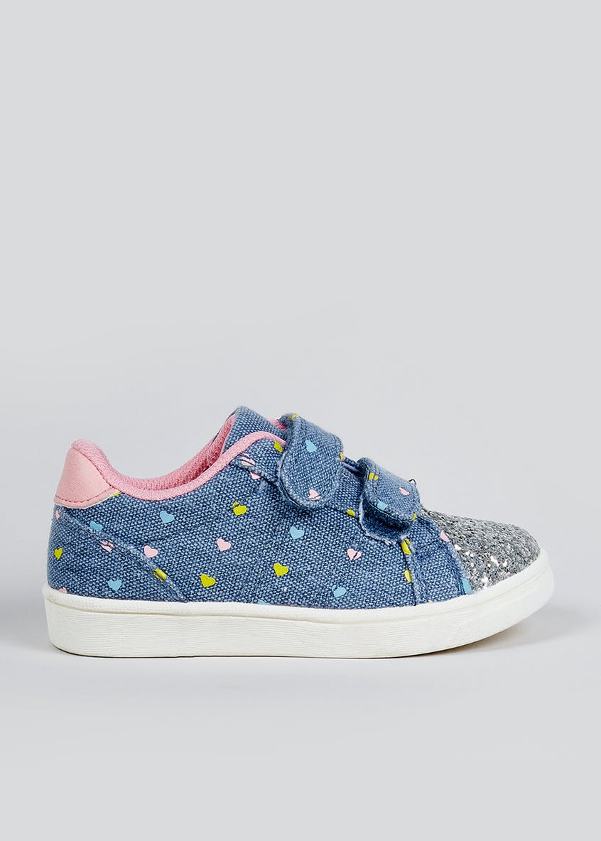 Girls Denim Riptape Cupsole Trainers (Younger 4-12)