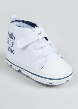 Unisex Soft Sole Hi Top Baby Trainers (Newborn-18mths)