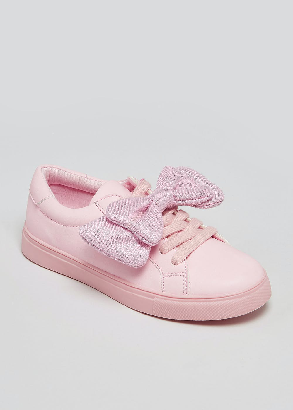 Girls Bow Lace Up Trainers (Younger 10