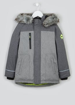 Boys Panelled Parka Coat (4-13yrs)