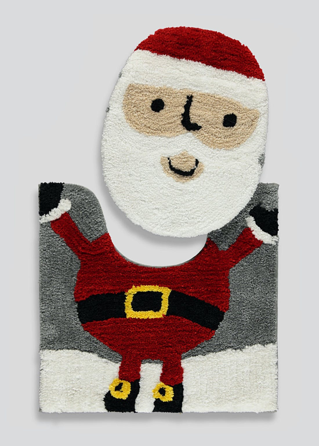 Santa Christmas 2 Piece Bath Mat Set