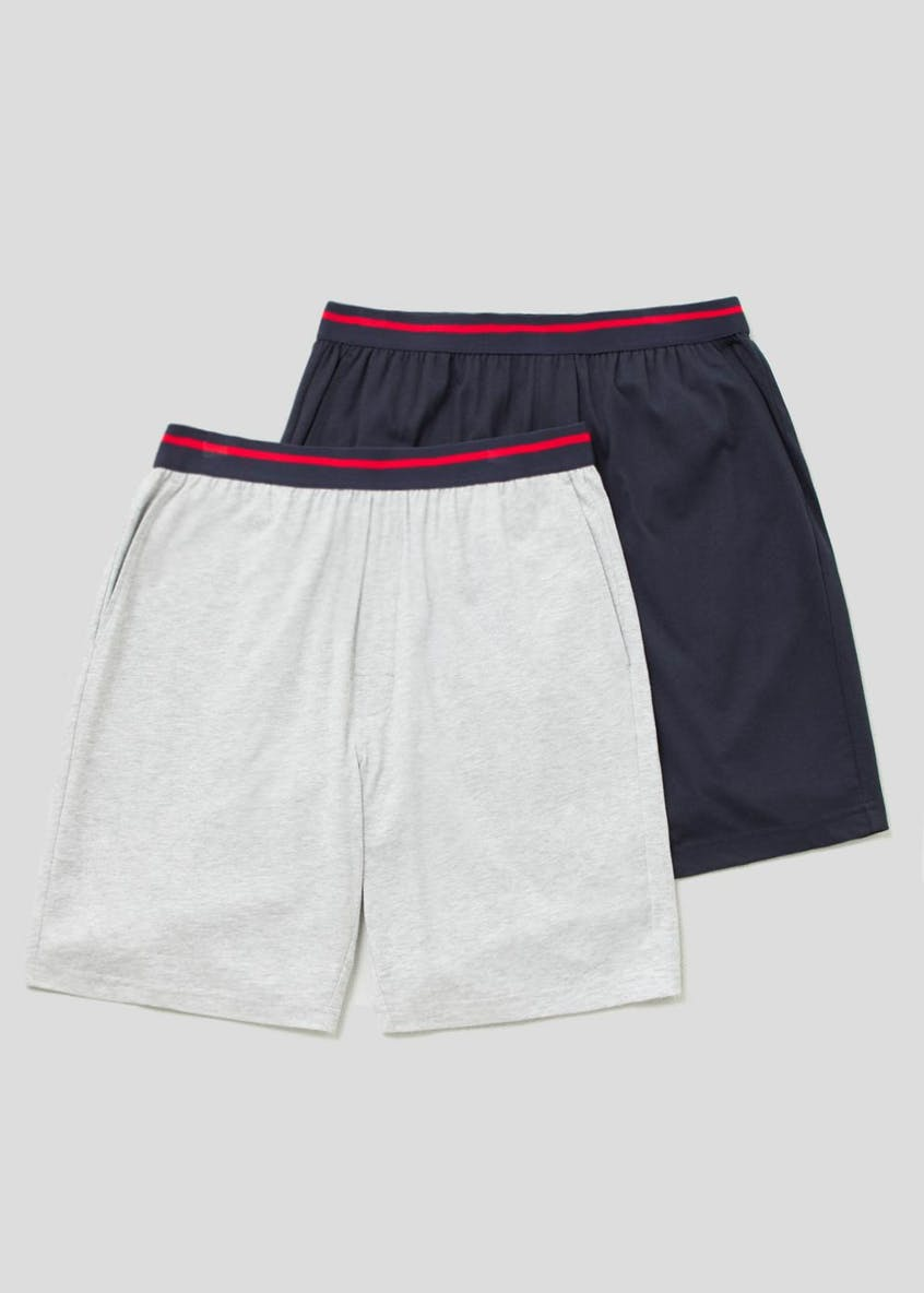 2 Pack Jersey Loungewear Shorts