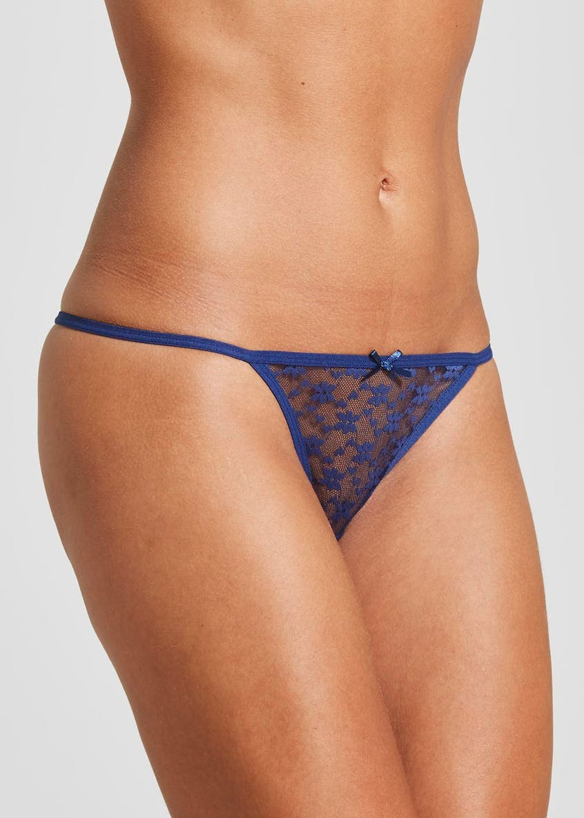 3 Pack Lace String Thongs