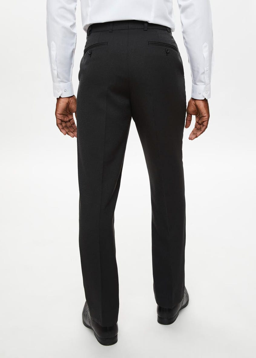 Wool Touch Textured Trousers