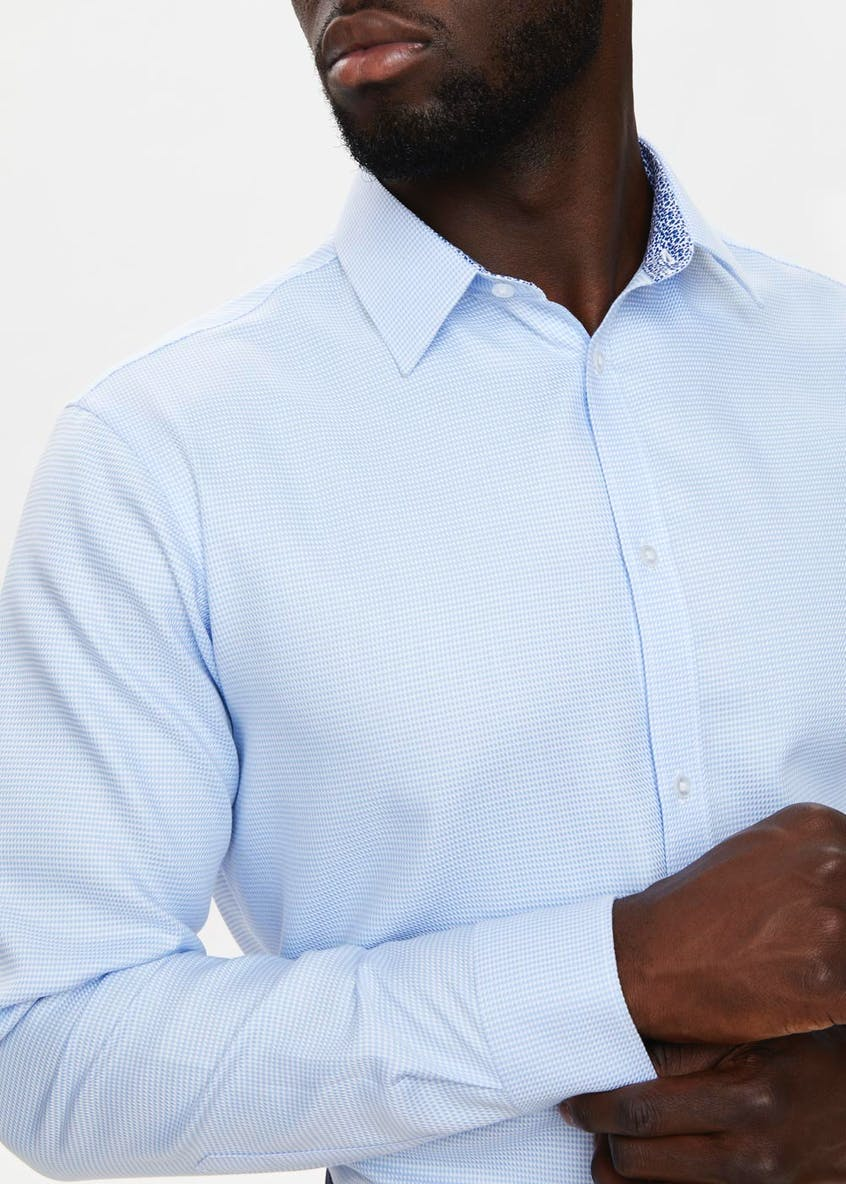 Taylor & Wright Regular Fit Long Sleeve Puppytooth Shirt