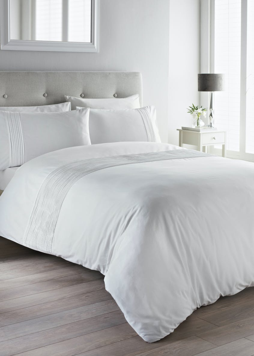 100% Cotton Pintuck Duvet Set