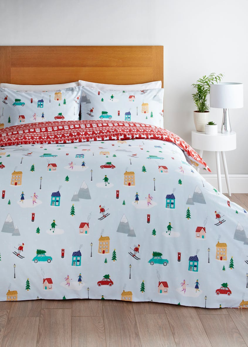 Ski Christmas Duvet Cover