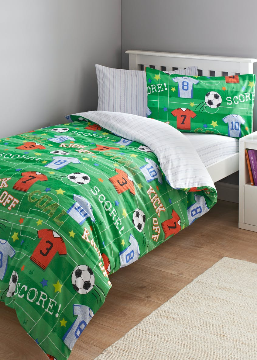 Kids 100% Cotton Football Duvet Cover (Single)